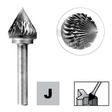 Бор-фрезы D.Bor форма J (зенкер с вершиной 60°)