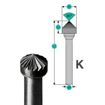 Бор-фрезы D.Bor форма K (зенкера с вершиной 90°)